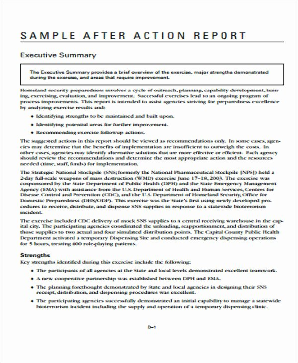 After Action Report Template Luxury 12 Action Report Templates Free Word Pdf format Download