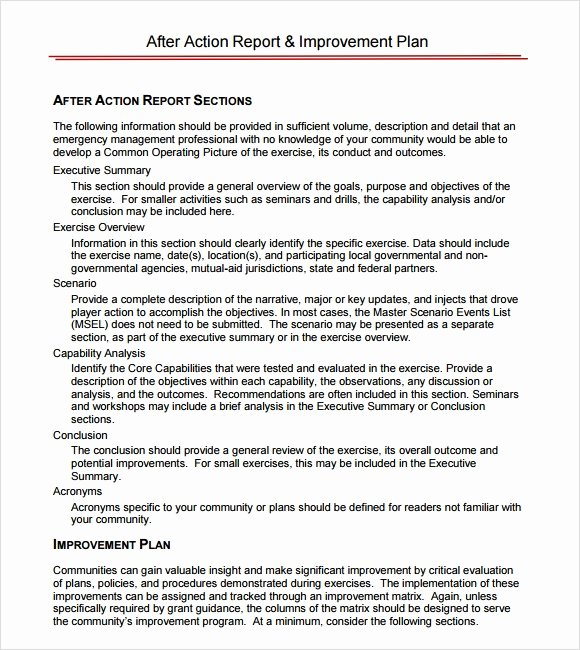 After Action Report Template Unique Sample after Action Report 11 Documents In Pdf Google Docs Apple Pages Word