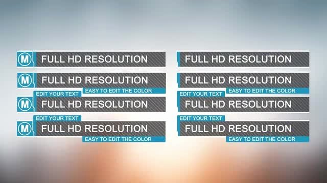 After Effects Lower Thirds Lovely Minimal Lower Thirds after Effects Templates