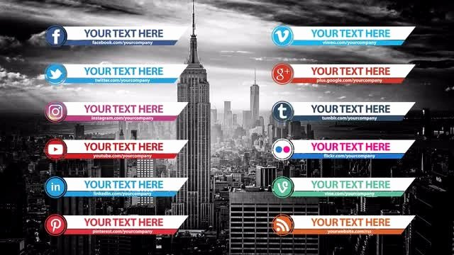 After Effects Lower Thirds Lovely social Media Lower Thirds Pack after Effects Templates