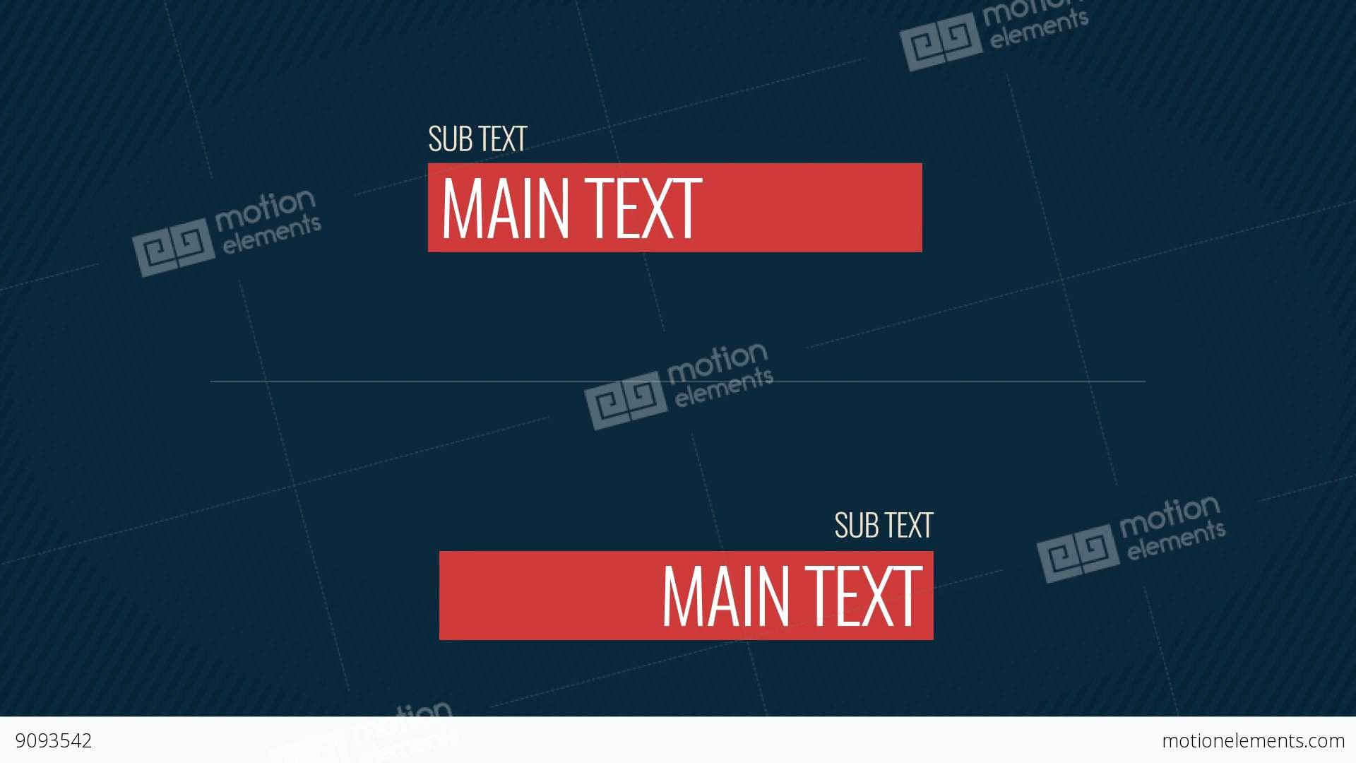 after effects template simple lower thirds pack