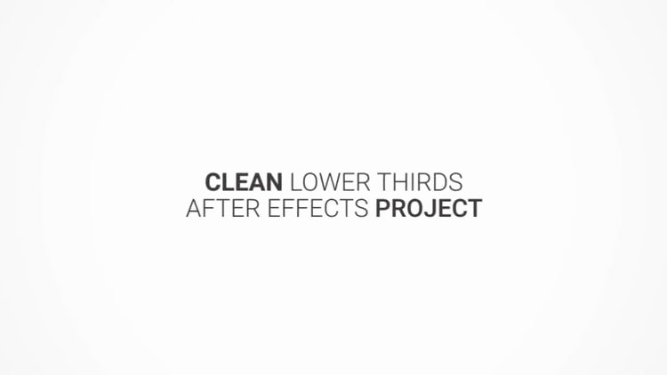 After Effects Lower Thirds Unique Clean Lower Thirds after Effects Templates