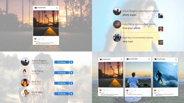 After Effects Slideshow Template Free Luxury Instagram Slideshow after Effects Templates