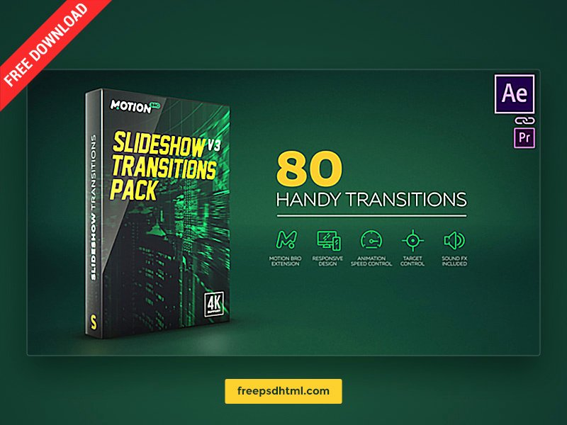 After Effects Slideshow Template Free New Slideshow Transitions Pack – Free after Effects Templates by Freepsd On Dribbble