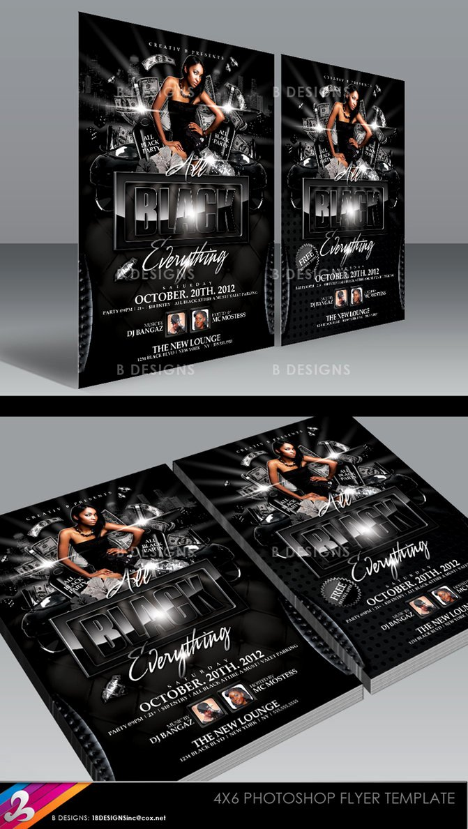 All Black Party Flyer Best Of All Black Everything Party Flyer Template by Anotherbcreation On Deviantart