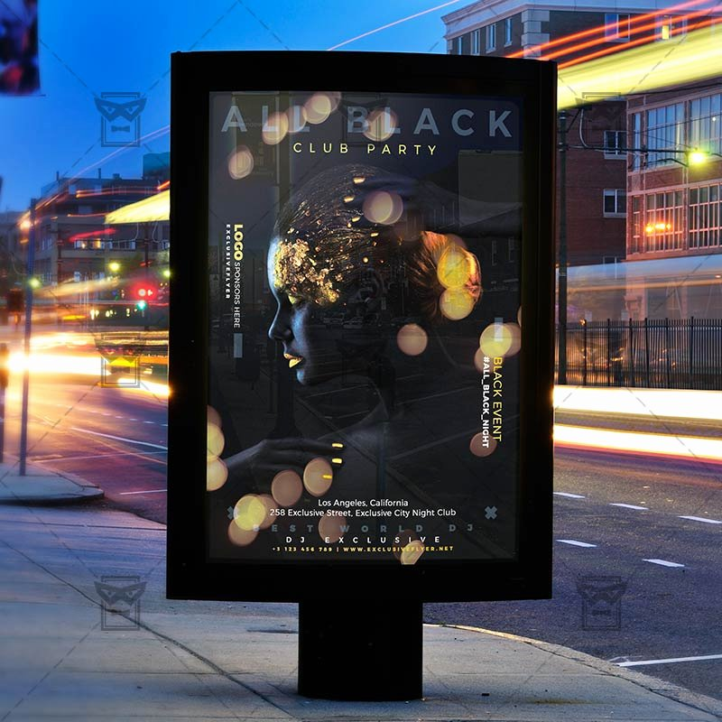 All Black Party Flyer Best Of All Black Party Flyer Club A5 Template Exclsiveflyer