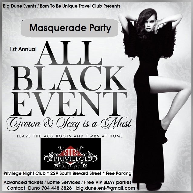 All Black Party Flyer Fresh All Black attire Masquerade Party eventbrite