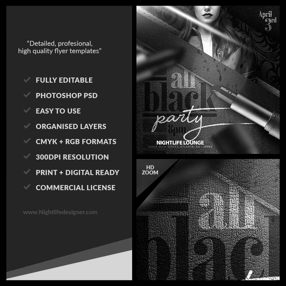 All Black Party Flyer Lovely All Black Party