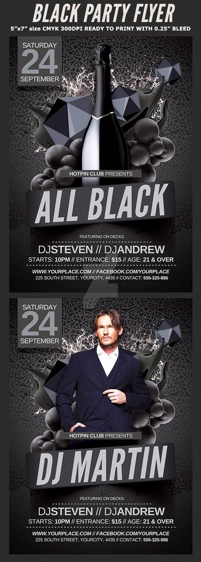 All Black Party Flyer New All Black Party Flyer Template by Hotpindesigns On Deviantart