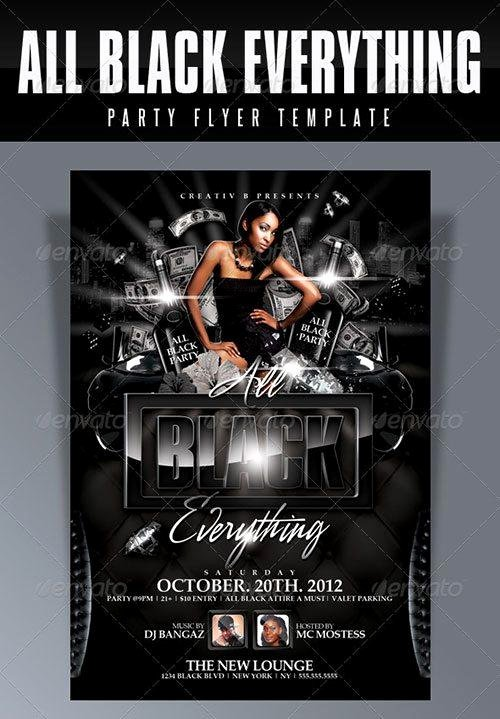 All Black Party Flyer New top 10 Best Hip Hop Psd Flyer Templates