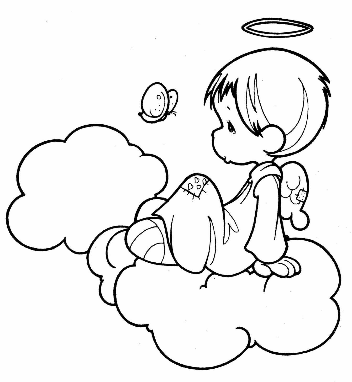 Angel Pictures to Draw Beautiful Angel Coloring Pages