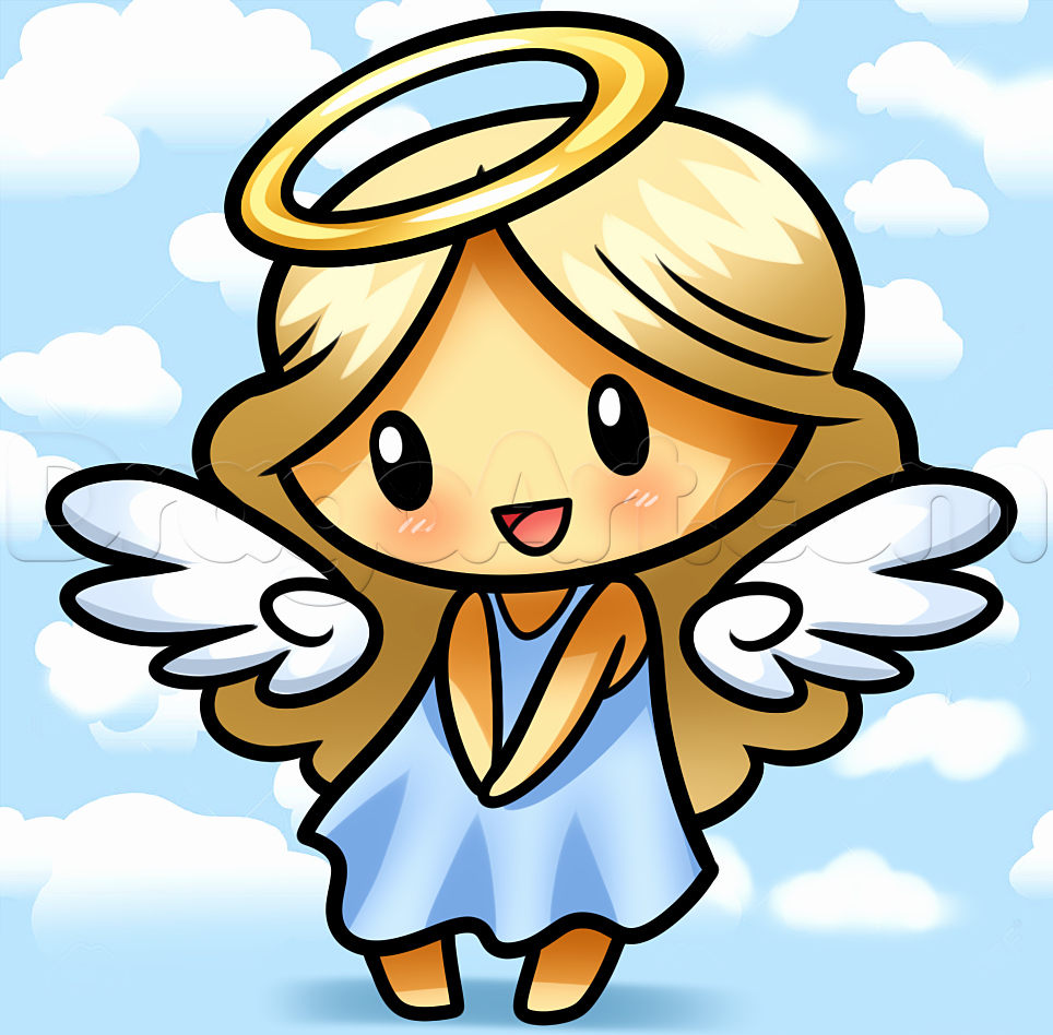 Angel Pictures to Draw Beautiful Drawing A Chibi Angel Step by Step Chibis Draw Chibi Anime Draw Japanese Anime Draw Manga