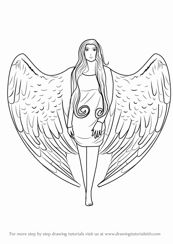 Angel Pictures to Draw Best Of Learn How to Draw An Angel with Wings Angels Step by Step Drawing Tutorials