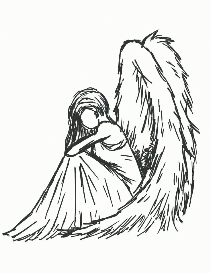 Angel Pictures to Draw Fresh Best 25 Angel Sketch Ideas On Pinterest
