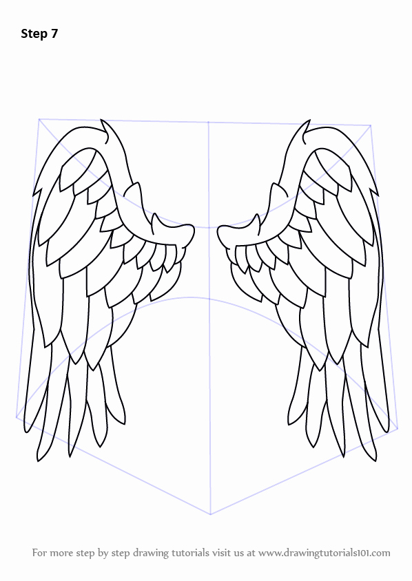 Angel Pictures to Draw Inspirational Learn How to Draw Angel Wings Angels Step by Step Drawing Tutorials