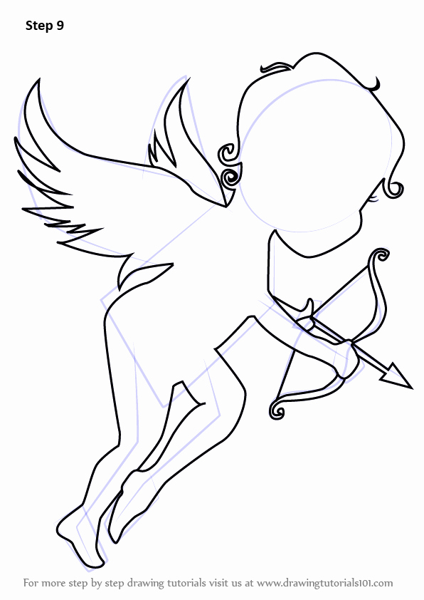 Angel Pictures to Draw Lovely Learn How to Draw An Angel Of Love Angels Step by Step Drawing Tutorials
