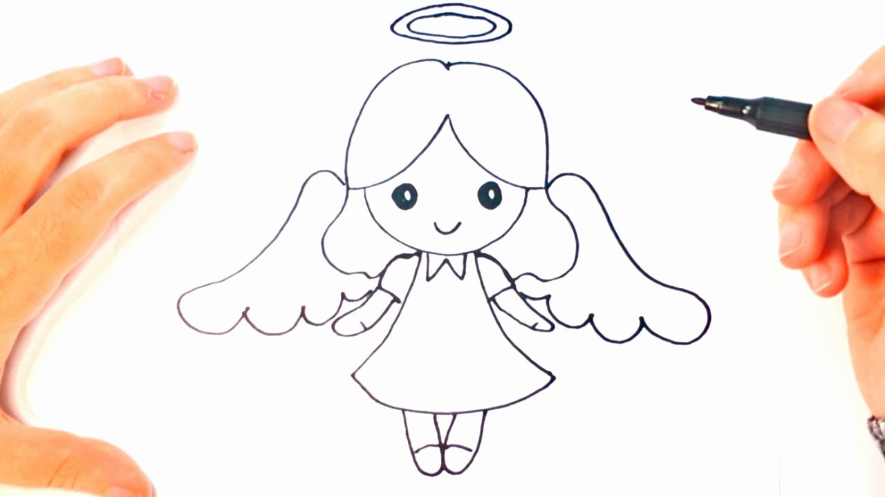 Angel Pictures to Draw Luxury How to Draw A Angel for Kids