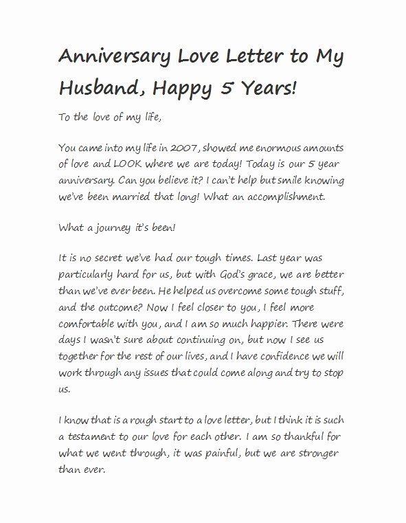 Anniversary Letter for Boyfriend Fresh 50 Romantic Anniversary Letters for Him or Her Template Lab