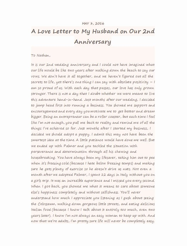 Anniversary Letter for Boyfriend Lovely 50 Romantic Anniversary Letters for Him or Her Template Lab