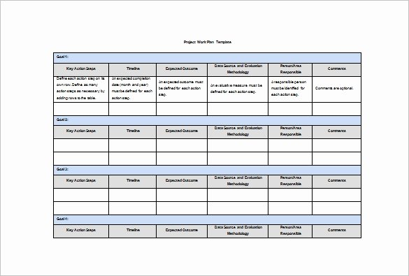 Annual Work Plan Template Awesome Work Plan Template 12 Free Word Pdf Documents Download