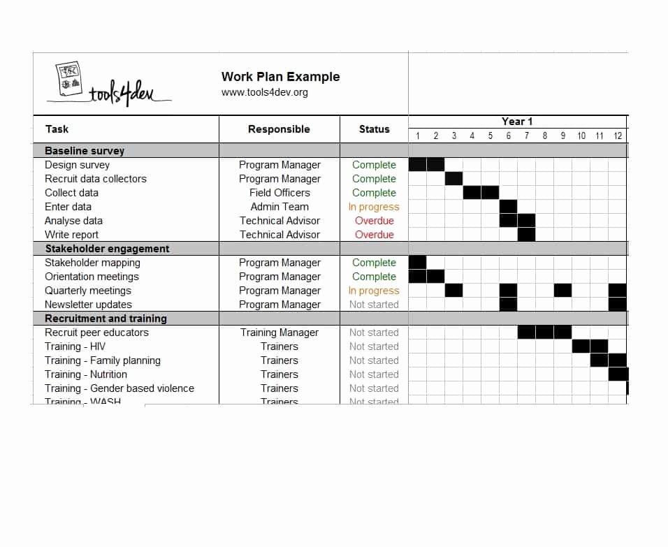 Annual Work Plan Template Best Of Work Plan 40 Great Templates & Samples Excel Word Template Lab
