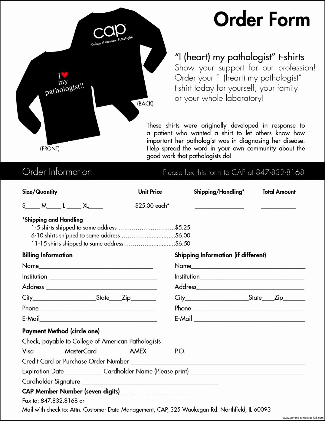 Apparel order form Template Excel Awesome T Shirt order form Template