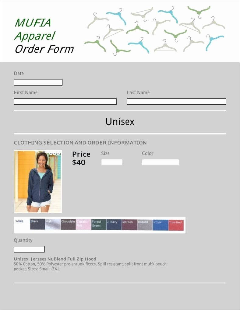 Apparel order form Template Excel Beautiful 9 Apparel order form Templates No Free Word Pdf Excel format Download