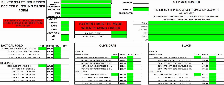 Apparel order form Template Excel Inspirational 4 T Shirt order form Template Excel Word Pdf Microsoft Excel Tmp