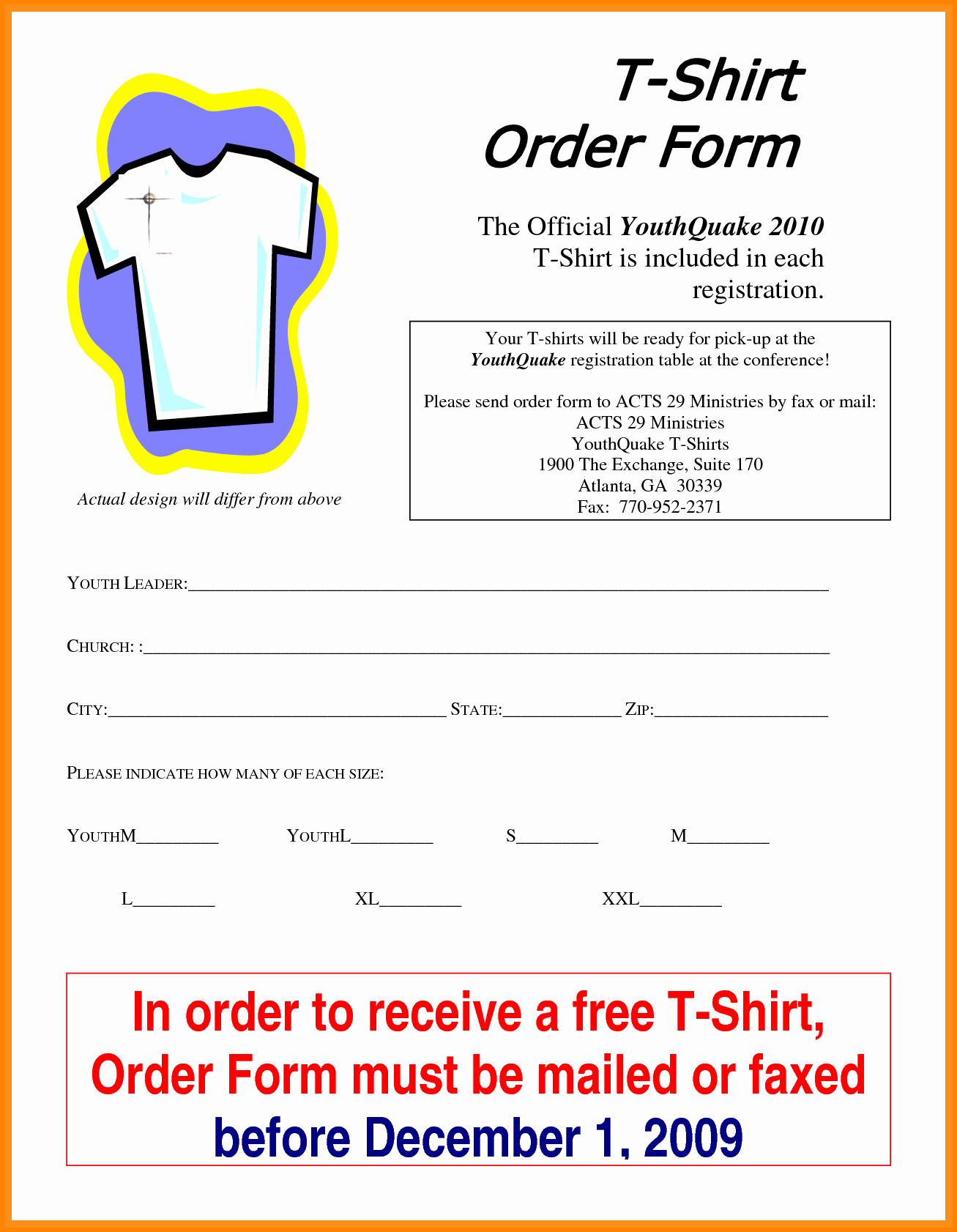 Apparel order form Template Excel New 5 T Shirt order form Template Excel