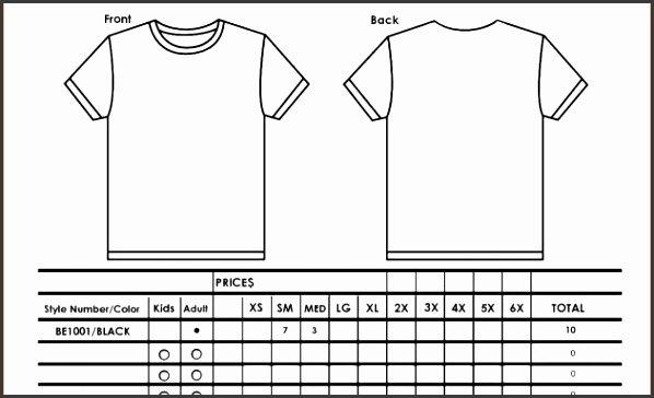 Apparel order form Template Excel Unique 9 T Shirt order form Template Excel Sampletemplatess Sampletemplatess