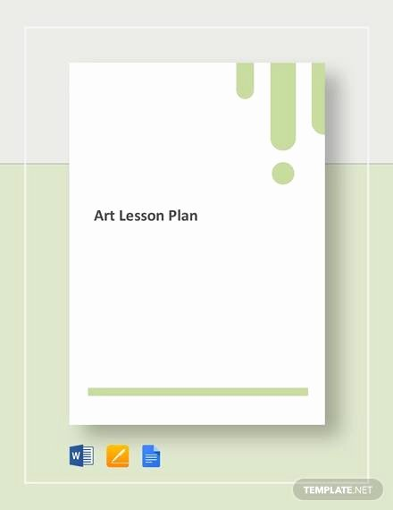 Art Lesson Plan Template Inspirational Sample Art Lesson Plan 8 Documents In Pdf Word