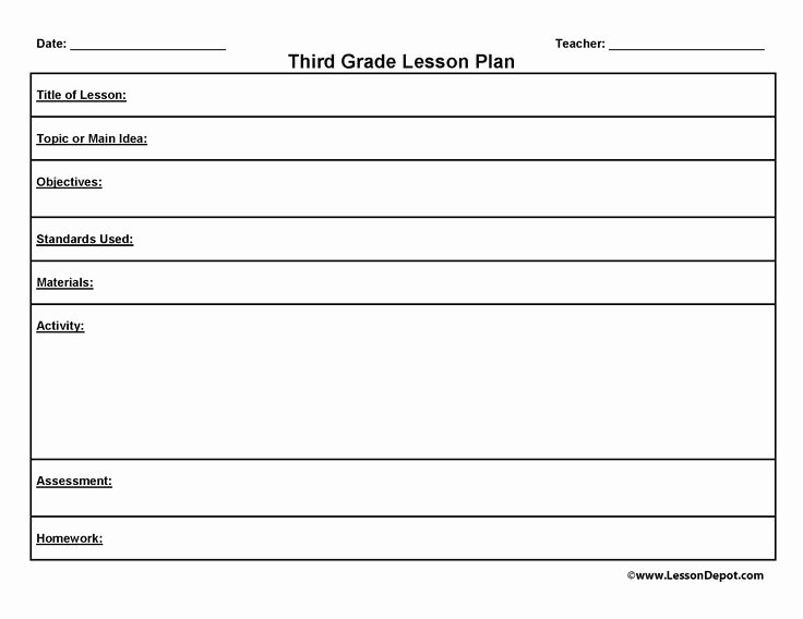 Art Lesson Plans Template Awesome Third Grade Lesson Plan Template to Homeschool or Not to Homeschool Pinterest