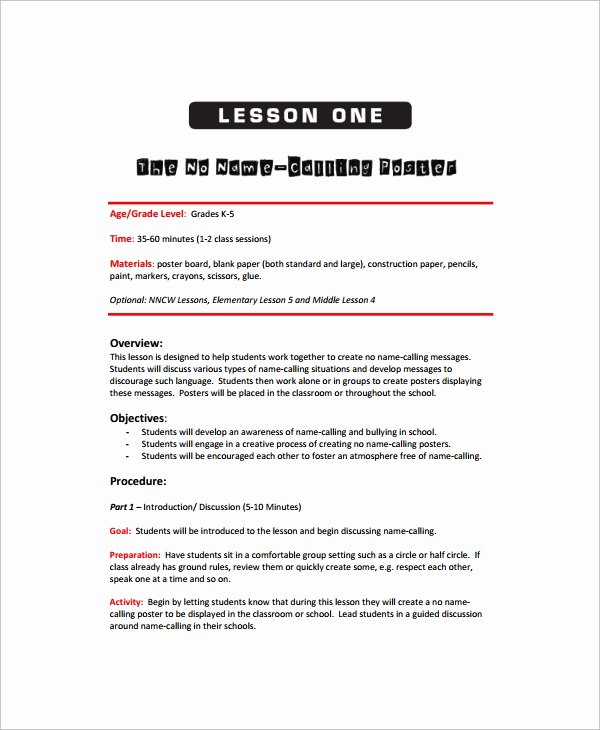 Art Lesson Plans Template Elegant Sample Art Lesson Plan 8 Documents In Pdf Word