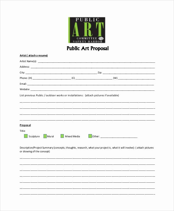 Art Project Proposal Example Awesome Art Proposal Templates the Worst Advices We Ve Heard for
