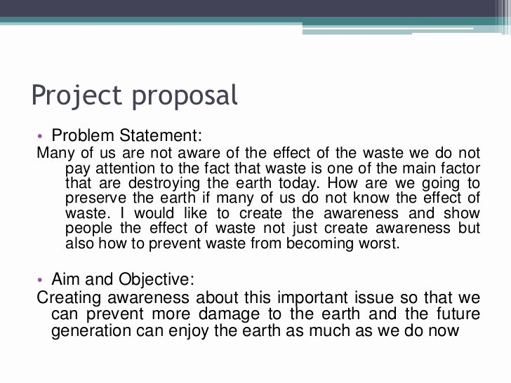 Art Project Proposal Example Awesome Waste Management Fyp Slide Media Art Project