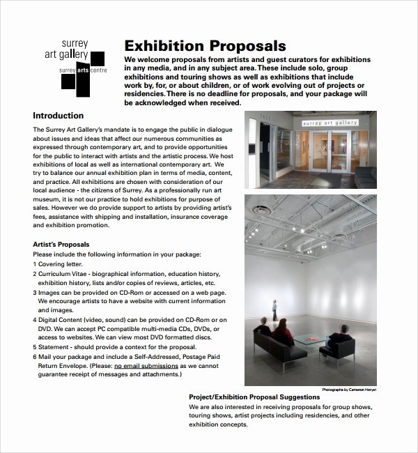 Art Project Proposal Example Best Of 10 Art Proposal Templates Pdf Word Pages