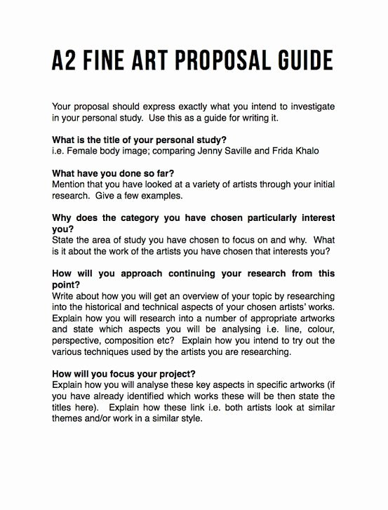 Art Project Proposal Example Best Of Proposal Guide Just Yes In 2019