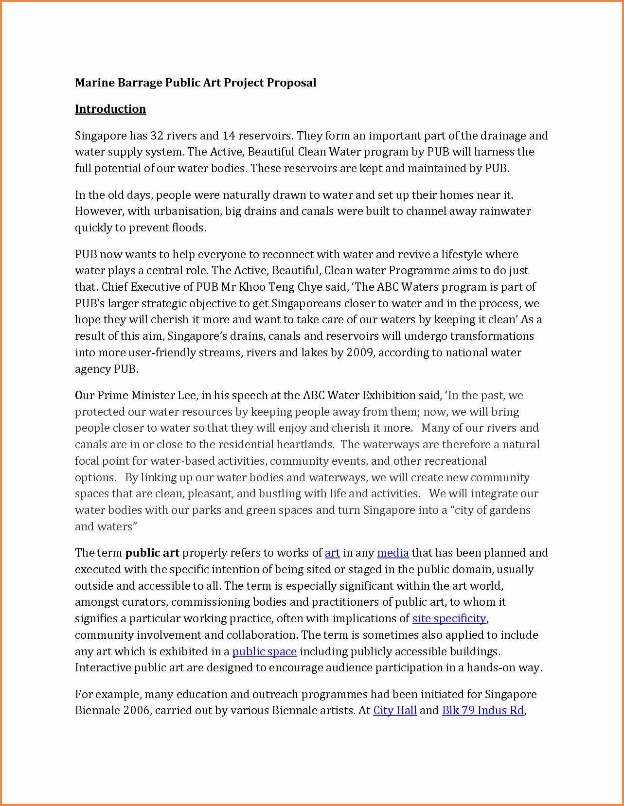 Art Project Proposal Example Pdf Awesome 4 How to Write An Artist Proposal for A Project