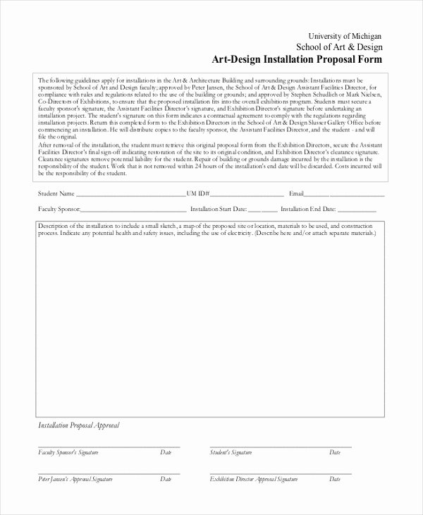 Art Project Proposal Example Pdf Fresh Free 10 Sample Project Proposal forms In Pages