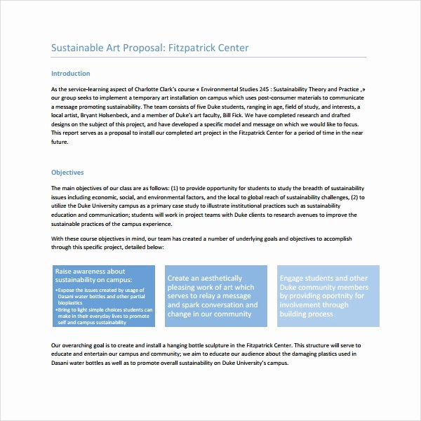 Art Project Proposal Example Unique 10 Art Proposal Templates Pdf Word Pages
