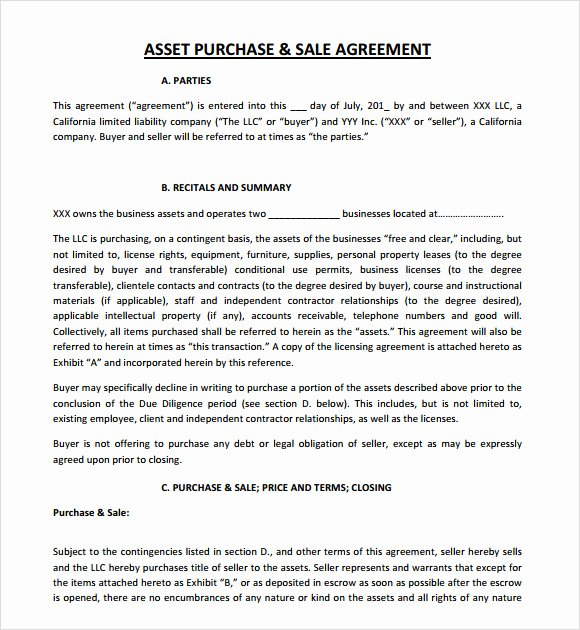 Asset Purchase Agreement Pdf Best Of Sample asset Purchase Agreement 12 Documents In Word Pdf