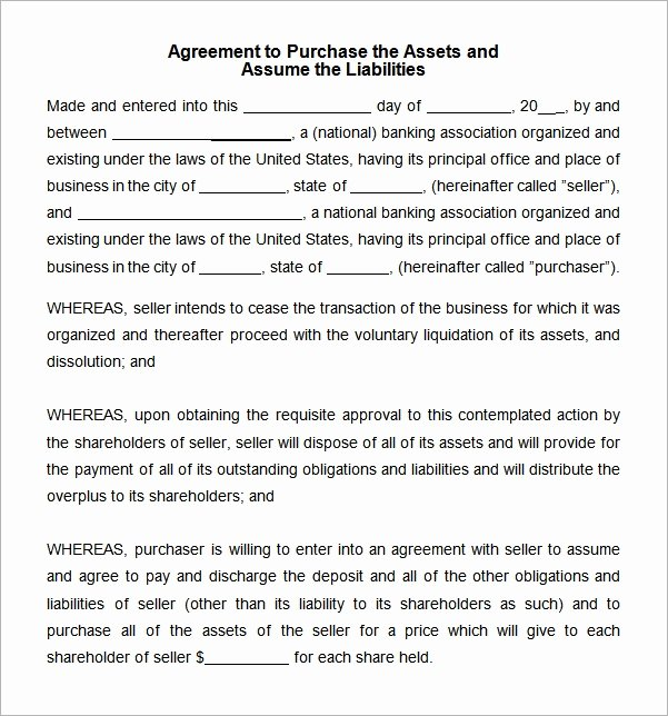 Asset Purchase Agreement Pdf Elegant Free 10 Sample asset Purchase Agreement Templates In