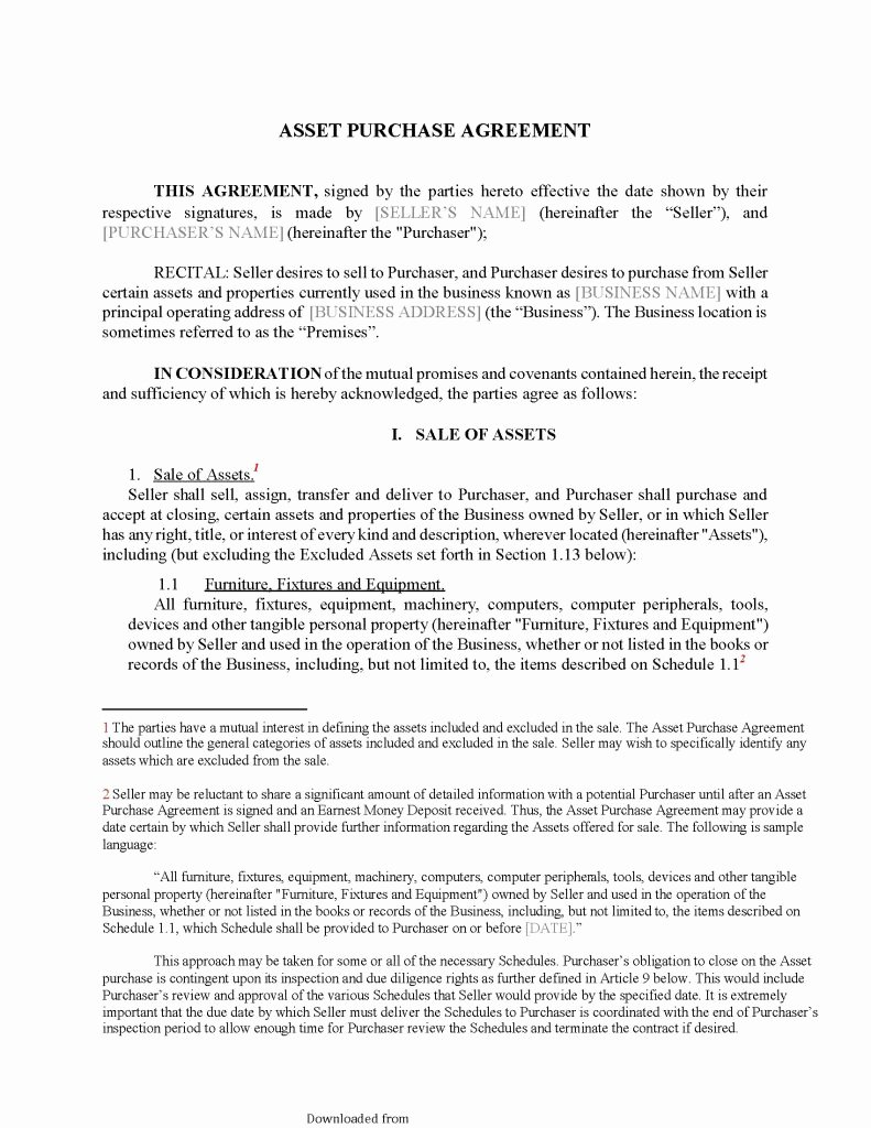 Asset Purchase Agreement Pdf Inspirational asset Purchase Agreement 2 Pdf format