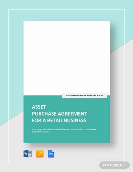 Asset Purchase Agreement Pdf Lovely Free 10 Sample asset Purchase Agreement Templates In