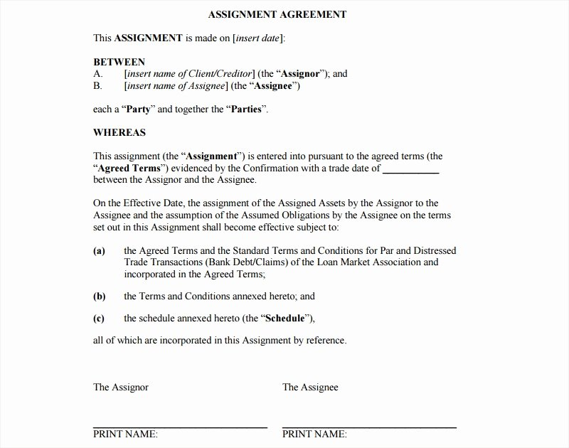 Assignment and assumption Agreement Template Inspirational 22 assignment Agreement Examples & Samples Pdf Doc Pages