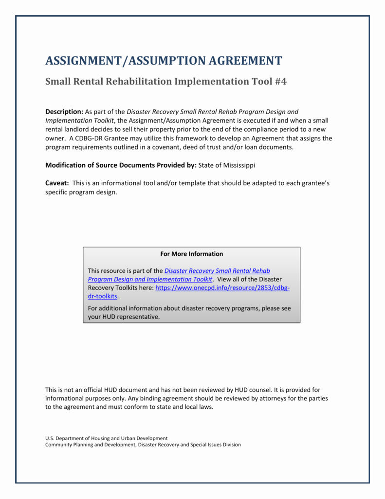 Assignment and assumption Agreement Template Lovely assignment assumption Agreement
