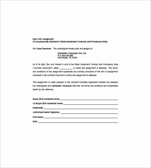 Assignment Of Promissory Note Lovely 8 assignment Of Promissory Note Free Sample Example format Download