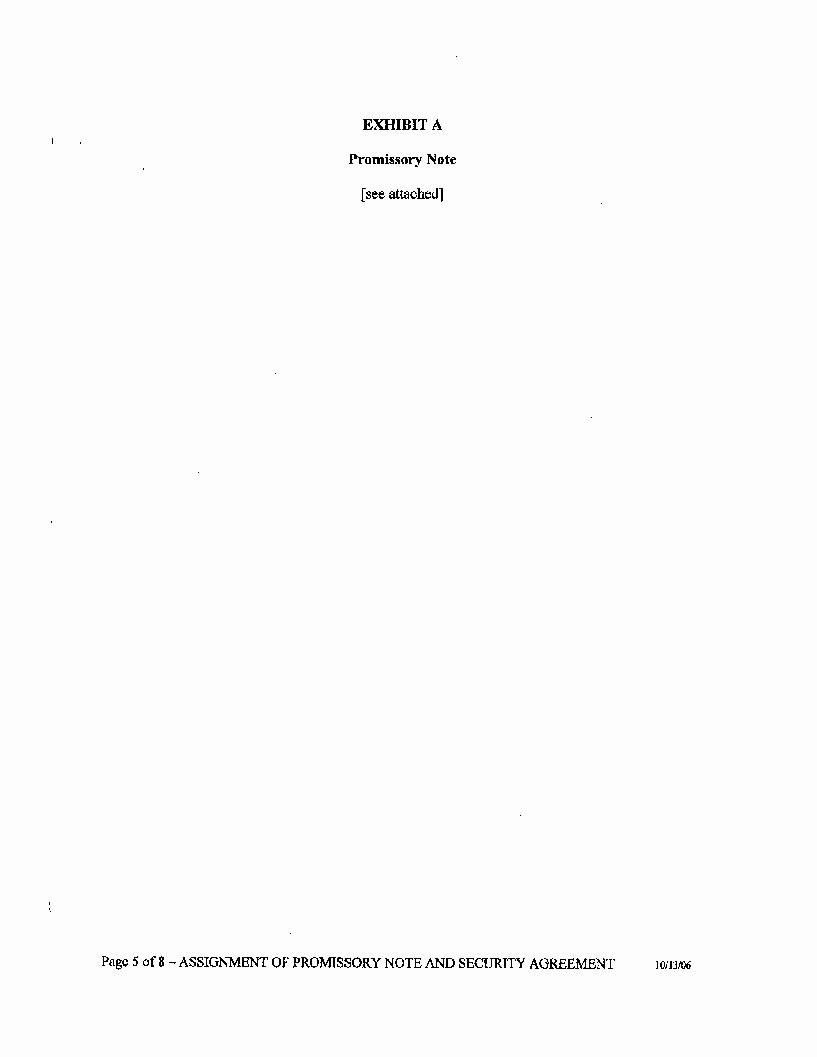 Assignment Of Promissory Note Unique Exhibit 99 3