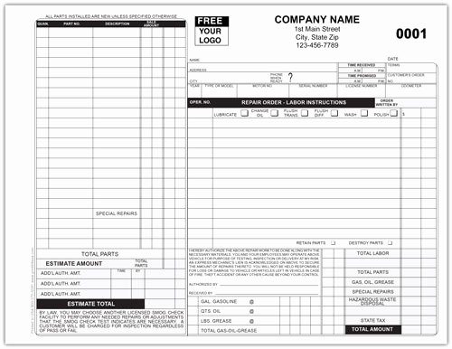 Auto Body Shop forms Elegant Auto Repair forms