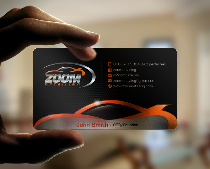 Auto Detail Business Cards Fresh Professional Serious Business Business Card Design for Zoom Detailing by Chandrayaaneative